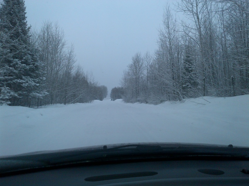 A snowy drive - Northern Ontario