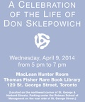 In Memory of Don Sklepowich - Died March 13, 2014